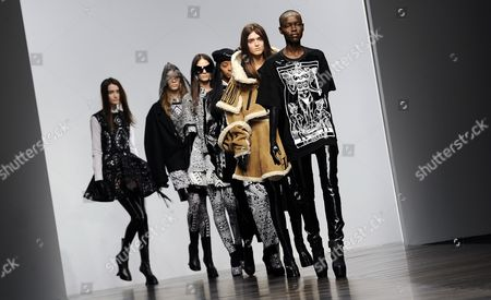 Models Present Creations by Designers Koji Maruyama and Marjan Pejoski For Their Label Ktz During the London Fashion Week Fall/winter 2013 at Somerset House in London Britain 15 February 2013 the Fashion Week Runs From 15 to 19 February United Kingdom London