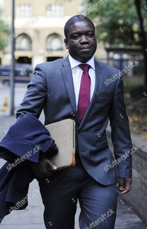 Kweku Adoboli Arrives at the Sothwark Crown Court in London where He Stands Trial on Charges of Fraud by Abuse of Position and False Accounting 3 October 2012 Adoboli is Accused of Undertaking Unauthorised Trading at Swiss Bank Ubs That Resulted in a $2bn Loss For the Bank One of the Biggest Ever Cases of Alleged Unauthorised Trading the Case Continues United Kingdom London