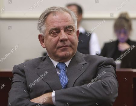 Former Croatian Prime Minister Ivo Sanader Listens to the Reading of a Judgement at a Croatian Court in Zagreb 20 November 2012 the Zagreb County Court on 20 November Found Former Croatian Prime Minister Ivo Sanader Guilty of Corruption Charges and Sentenced Him to 10 Years in Prison the Court Ruled That He Received an Illegal Commission From the Austrian Hypo Alpe-adria Bank to Broker a Loan and a 10-million-euro Bribe From the Hungarian Petrol Company Mol in the Unfavourable Privatization of Former Croatian Oil Monopoly Ina Croatia Zagreb