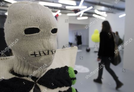 The Work Entitled 'All the World's a Stage' by Piers Atkinson is Displayed As Part of the 'Arrrgh! Monsters in Fashion' Exhibition Held in Paris France 13 February 2013 the Exhibition Held at the Gaite Lyrique Runs Until 07 April France Paris