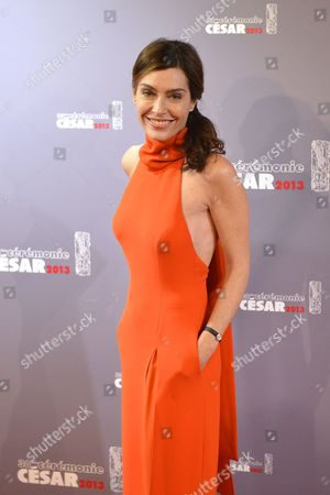 French Journalist Daphne Roulier Arrives For the 38th Annual Cesar Awards Ceremony Held at the Chatelet Theatre in Paris France 22 February 2013 France Paris