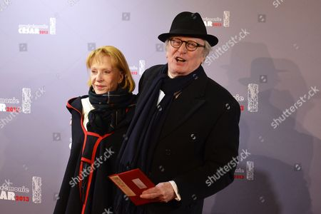 French Actors Claude Rich (r) and Wife Catherine Rich (l) Arrive For the 38th Annual Cesar Awards Ceremony Held at the Chatelet Theatre in Paris France 22 February 2013 France Paris