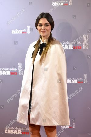 French Singer Emilie Simon Arrives For the 38th Annual Cesar Awards Ceremony Held at the Chatelet Theatre in Paris France 22 February 2013 France Paris