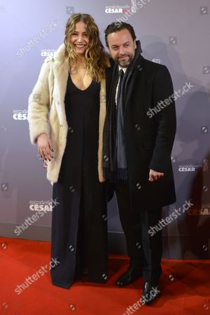 French Singer and Actress Izia Higelin (l) and French Actor Patrick Mille (r) Arrive For the 38th Annual Cesar Awards Ceremony Held at the Chatelet Theatre in Paris France 22 February 2013 France Paris
