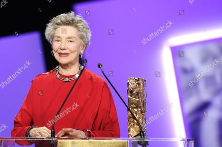 French Actress Emmanuelle Riva Receives the Best Actress Award For Her Role in 'Amour' During the 38th Annual Cesar Awards Ceremony Held at the Chatelet Theatre in Paris France 22 February 2013 France Paris