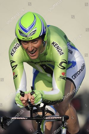 Cannondale Team Cyclist Ivan Basso of Italy in Action During the 2 9 Km Prologue of the Paris-nice Cycling Race in Houilles Near Paris France 03 March 2013 France Houilles