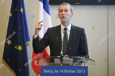 French Junior Minister For the Agroalimentary Industry Guillaume Garot Speaks During a Press Conference in Bercy Paris France 14 February 2013 to Give Some Conclusions Regarding the Scandal Over Horse Meat Found in Products Labelled As Beef France Paris