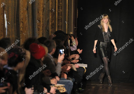 Dutch Designer Steffie Christiaens Greets the Audience After Her Show During the Paris Fashion Week in Paris France 26 February 2013 the Presentation of the Ready to Wear Collections Fall / Winter 2013-2014 Runs From 26 February to 03 March France Paris