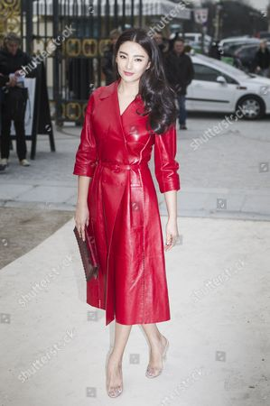 Chinese Actress Zhang Yuqi Arrives For the Valentino Fashion Show During the Paris Fashion Week in Paris France 05 March 2013 the Presentation of the Ready to Wear Collections Fall / Winter 2013-2014 Runs From 26 February to 06 March France Paris