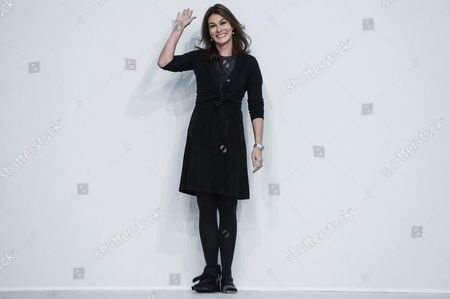 German Designer Andrea Karg Waves on the Catwalk at the End of the Show For Her Label Allude During the Paris Fashion Week in Paris France 06 March 2013 the Presentation of the Ready-to-wear Fall-winter 2013/14 Collections Runs From 26 February to 06 March France Paris