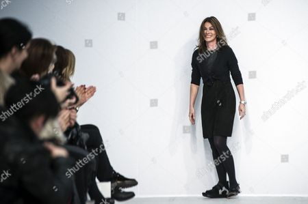 German Designer Andrea Karg Smiles on the Catwalk at the End of the Show For Her Label Allude During the Paris Fashion Week in Paris France 06 March 2013 the Presentation of the Ready-to-wear Fall-winter 2013/14 Collections Runs From 26 February to 06 March France Paris