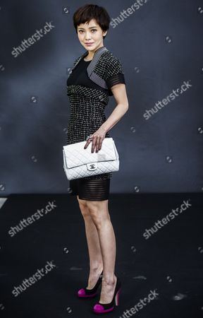 Taiwanese Singer and Actress Amber Kuo Attends the Chanel Fashion Show During the Paris Fashion Week at the Grand Palais in Paris France 05 March 2013 the Presentation of the Ready-to-wear Fall-winter 2013/14 Collections Runs From 26 February to 06 March France Paris