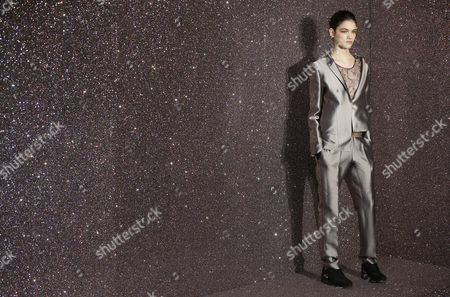 A Model Presents a Creation by Anne Valerie Hash As Part of Her Collection Presented at Paris Fashion Week in Paris France 01 March 2013 the Presentation of the Ready to Wear Collections Fall / Winter 2013-2014 Runs From 26 February to 03 March France Paris