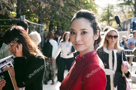 Taiwanese Model Pace Wu Poses After the Fashion Show of Valentino Fashion House at the Paris Fashion Week Ready-to-wear Spring/summer 2013 in Paris France 02 October 2012 the Fashion Week Runs From 25 September to 03 October France Paris