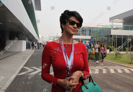 Indian Bollywood Actress and Former Beauty Queen Gul Panag Arrives Prior to the Formula One Grand Prix of India at the Buddh International Circuit in Greater Noida Near New Delhi India 28 October 2012 India Greater Noida