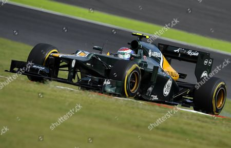 Russian Formula One Driver Vitaly Petrov of Caterham Steers His Car During the Qualifying Session at the Suzuka Circuit in Suzuka Western Japan 06 October 2012 the Japan Formula One Grand Prix That Will Be Held on 07 October Japan Suzuka