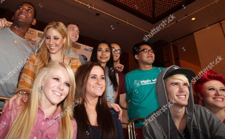 Top 10 Finalists in the Season 11 of American Idol (standing L-r) Joshua Ledet Elise Testone Phillip Phillips Jessica Sanchez Deandre Brackensick Heejun Han (seated L-r) Hollie Cavanagh Skylar Laine Colton Dixon and Erika Van Pelt Pose After a Press Briefing at the Manila Hotel Philippines 18 September 2012 the Top 10 Finalists in Season 11 of the Reality Singing Show 'American Idol' Are in Manila For a One-night Concert Entitled 'American Idol Live! Tour 2012' Philippines Manila