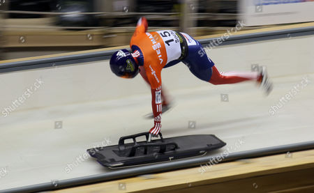 Donna Creighton of Great Britain in Action During Fibt Bob & Skeleton World Cup 9 Event at a New Bobsleigh Skeleton and Luge Stadium at Krasnaya Poliana a Mountain Venue of Sochi 2014 Olympics 16 February 2013 Russian Federation Sochi