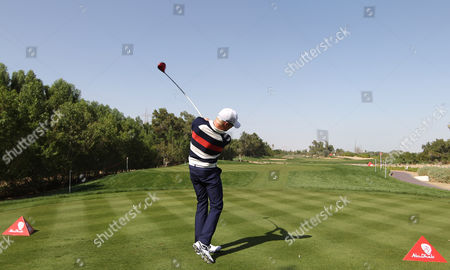 Simon Dyson of England in Action During the First Round of Abu Dhabi Hsbc Golf Championship 2013 at Abu Dhabi Golf Club in Abu Dhabi United Arab Emirates 17 January 2013 United Arab Emirates Abu Dhabi