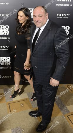 Us Actor James Gandolfini (r) and His Wife Deborah Lin (l) Arrive For the Zero Dark Thirty Premiere at the Dolby Theatre in Hollywood California Usa 10 December 2012 Zero Dark Thirty is About the Hunt For Osama Bin Laden United States Hollywood