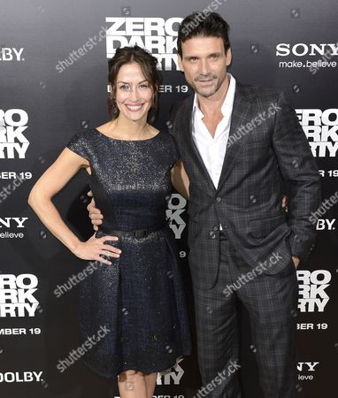 Us Actor Frank Grillo (r) and His Wife Us Actress Wendy Moniz (l) Arrive For the Zero Dark Thirty Premiere at the Dolby Theatre in Hollywood California Usa 10 December 2012 Zero Dark Thirty is About the Hunt For Osama Bin Laden United States Hollywood