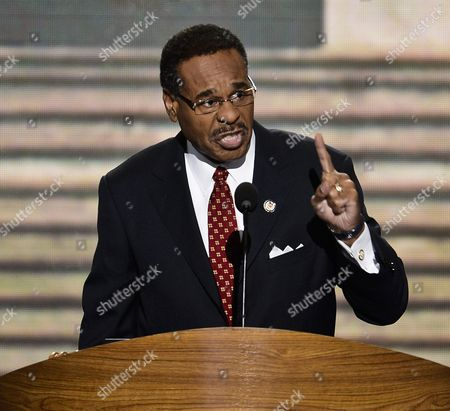 Congressional Black Caucus Member Emanuel Cleaver Ii Addresses the Democratic National Convention in Charlotte North Carolina Usa 05 September 2012 President Barack Obama Will Be Nominated to Run For a Second Term at the Convention United States Charlotte