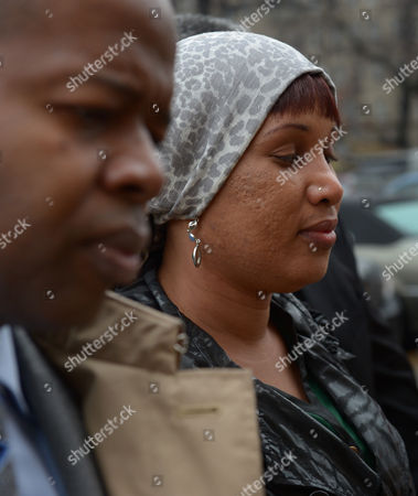 Nafissatou Diallo (r) the Woman who Has Sued Dominique Strauss-kahn For Sexual Assault Arrives to Bronx Supreme Court with One of Her Lawyers Kenneth P Thompson (l) For a Hearing with a Judge to Update a Judge on the Status of Settlement Discussions in the Bronx New York Usa 10 December 2012 Strauss-kahn Allegedly Forced Himself on Diallo After She Went to Clean His Hotel Room in New York in May 2011 United States Bronx
