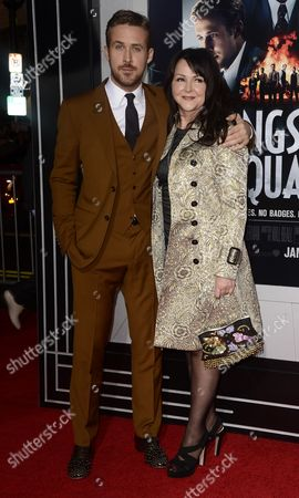 Canadian Actor and Cast Member Ryan Gosling (l) and Mother Donna Gosling (r) Arrive For the World Premiere of 'Gangster Squad' at Grauman's Chinese Theatre in Hollywood California Usa 07 January 2013 United States Hollywood