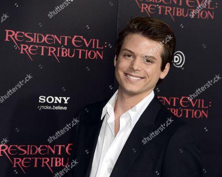 Us Actor Drew Osborne Arrives For the United States Premiere of 'Resident Evil: Retribution' in Los Angeles California Usa 12 September 2012 'Resident Evil: Retribution' is the Fifth Installment of the Successful Film Adaptation United States Los Angeles
