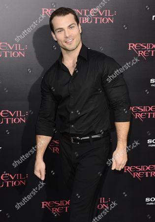 Canadian Actor and Cast Member Shawn Roberts Arrives For the United States Premiere of 'Resident Evil: Retribution' in Los Angeles California Usa 12 September 2012 'Resident Evil: Retribution' is the Fifth Installment of the Successful Film Adaptation United States Los Angeles