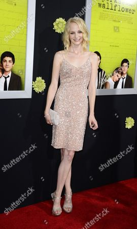 Us Actress and Cast Member Erin Wilhelmi Arrives For the Los Angeles Premiere of 'The Perks of Being a Wallflower' in Hollywood California Usa 10 September 2012 United States Hollywood