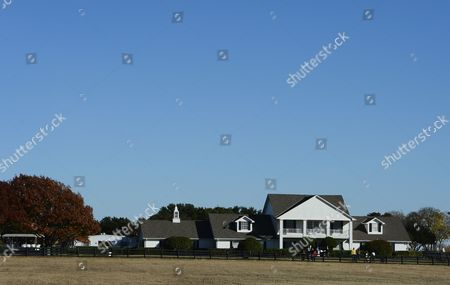 Southfork Ranch where the Tv Series Dallas was Based Off of and Partly Filmed in the 1970's in Parker Texas Usa 24 November 2012 Us Actor Larry Hagman Died at the Age of 81 at Medical City Hospital in Dallas Texas Larry Hagman was Known Best For His Role As J R Ewing on the Television Series Dallas United States Parker