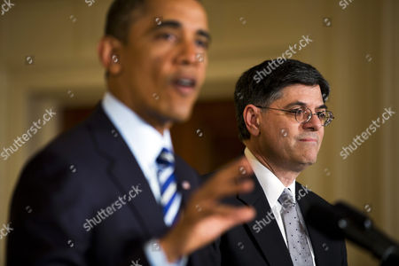 Us President Barack Obama (l) Nominates Chief of Staff Jack Lew (r) to Be the Next Secretary of the Treasury in the East Room of the White House in Washington Dc Usa 10 January 2013 if Confirmed Lew Will Replace Outgoing Treasury Secretary Timothy Geithner United States Washington