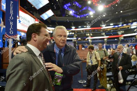 Us Actor John Voight (c) Greets Delegates on the Floor of the Republican National Convention at the Tampa Bay Times Forum in Tampa Florida Usa 30 August 2012 Presidential Candidate Mitt Romney is Expected to Accept the Nomination As the Republican Presidential Candidate United States Tampa