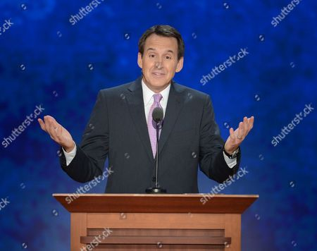 Stock Image of Former Minnesota Governor Tim Pawlenty Gestures During His Speech at the Third Session of the Republican National Convention at the Tampa Bay Times Forum in Tampa Florida Usa 29 August 2012 Vice Presidential Running Mate Paul Ryan Will Be the Featured Speaker For the Session United States Tampa