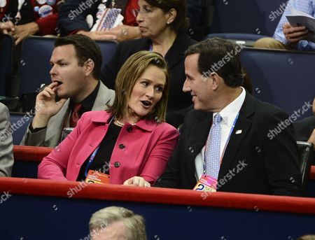 Former Presidential Candidate Rick Santorum (r) Sits with His Wife Karen During the Evening Session of the Republican National Convention at the Tampa Bay Times Forum in Tampa Florida Usa 28 August 2012 Mitt Romney was Officially Nominated As the Republican Presidential Nominee For the 2012 Us Presidential Election United States Tampa