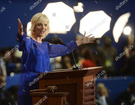 Stock Picture of Actress Janine Turner Addresses Delegates During the Evening Session of the Republican National Convention at the Tampa Bay Times Forum in Tampa Florida Usa 28 August 2012 Mitt Romney was Officially Nominated As the Republican Presidential Nominee For the 2012 Us Presidential Election United States Tampa