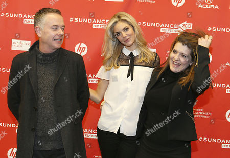 British Director Michael Winterbottom Left British Actress Tamsin Egerton Center and British Producer Melissa Parmenter Right Arrive's For the Film 'The Look of Love' That Premiered at the 2013 Sundance Film Festival in Park City Utah Usa 19 January 2013 the Festival Runs From 17 to 27 January 2013 United States Park City