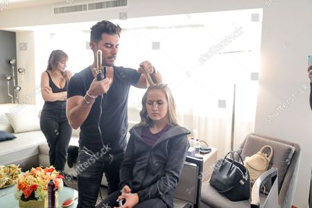 Editorial picture of Olymipians prepare for the 74th Annual Golden Globe Awards with Matrix Haircare, Los Angeles, USA - 08 Jan 2017