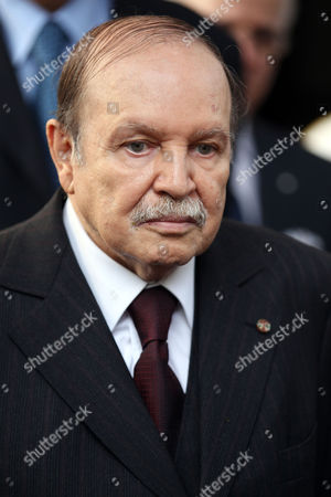 Algerian President Abdelaziz Bouteflika Looks on After His Meeting with the Qatari Prime Minister and Minister of Foreign Affairs Sheikh Hamad Bin Jassim Bin Jabr Al-thani (not Pictured) at Djenane El-mufti Residence in Algiers Algeria 11 September 2012 the Qatari Prime Minister Arrived in Algiers For a One-day Visit Algeria Algiers