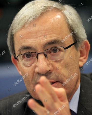 2010 Nobel Prize in Economics Cypriot Economist Christopher Antoniou Pissarides Speaks Duing a News Conference on the Side of 'Jobs For Europe' Conference in Brussels Belgium 06 September 2012 the Commission is Organising a Major Conference on Employment Policy in Order to Explore New Dimensions of Employment Policy Notably Regarding the Functioning of European Labour Markets Wage Developments Flexicurity in a Crisis Context and Inequalities Belgium Brussels