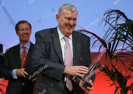 Stock Photo of Barco Ceo Eric Van Zele After He Won the Flemish Manager of the Year 2012 in Brussels Belgium 09 January 2013 Belgium Brussels