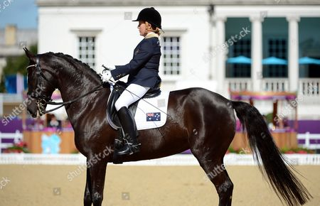 Australia's Hannah Dodd Competes in the Equestrian Dressage Individual Grade 4 Team Test in Greenwich Park During the London 2012 Paralympic Games in London Britain 31 August 2012 United Kingdom London