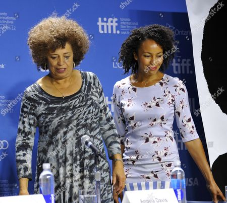 Us Professor and Political Activist Angela Davis (l) and Her Niece Us Actress Eisa Davis Attend a Press Conference For the Film 'Free Angela and All Political Prisoners' During the 37th Annual Toronto International Film Festival in Toronto Canada on 10 September 2012 Eisa Davis Portrayed Angela Davis in Some Scenes in the Documentary Canada Toronto