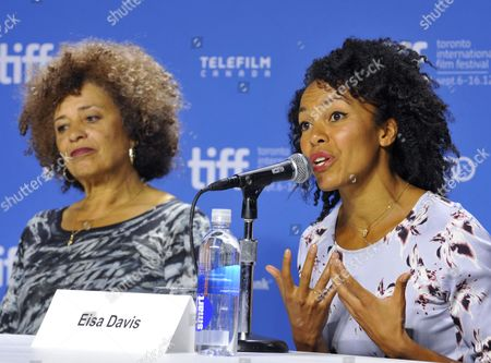 Us Professor and Political Activist Angela Davis (l) and Her Niece Us Actress Eisa Davis Attend a Press Conference For the Documentary 'Free Angela and All Political Prisoners' During the 37th Annual Toronto International Film Festival in Toronto Canada 10 September 2012 Eisa Davis Portrays Angela Davis in Some Scenes in the Documentary Canada Toronto