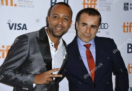 Iranian Actor and Cast Member Arash Labaf (l) and Iranian Director Bahman Ghobani Attend the Premiere Showing of the Film 'Rhino Season' During the 37th Annual Toronto International Film Festival in Toronto Canada 12 September 2012 the Festival Runs Until 16 September 2012 Canada Toronto