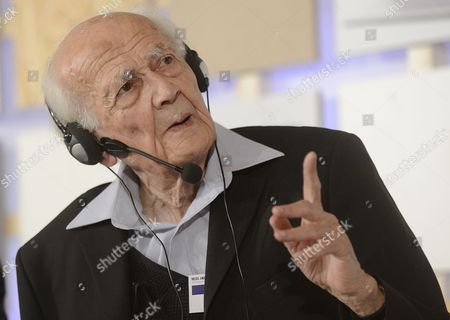 Polish Sociologist Zygmunt Bauman Attends International Conference Forum 2000 in Prague Czech Republic 23 October 2012 the Sixteenth Annual Forum 2000 Conference Convene Global Leaders From Politics Academia Religion Business and Civil Society Are Meeting to Discuss Key Issues Facing Civilization the Forum 2000 Foundation was Founded in 1996 by Czech President Vaclav Havel Japanese Philanthropist Yohei Sasakawa and Nobel Peace Prize Laureate Elie Wiesel According to the Organization the Main Objective of Its Conferences is 'To Identify the Key Issues Facing Civilization and to Explore Ways to Prevent the Escalation of Conflicts That Have Religion Culture Or Ethnicity As Their Primary Components ' Czech Republic Prague