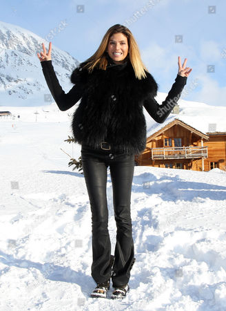French Actress and Model Isabelle Funaro Poses During the Photocall For the Movie 'Vive La France' at the 16th Annual International Comedy Film Festival in L'alpe D'huez France 17 January 2013 the Movie is Presented out of Competition at the Festival That Runs From 16 to 20 January France Alpe D'huez