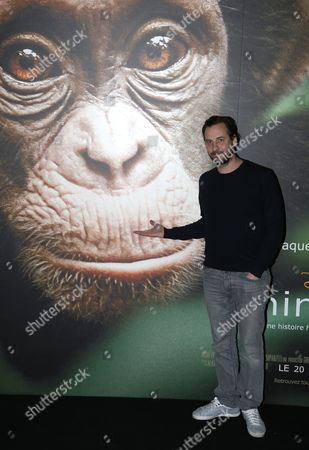 French Actor Fred Testot Attends the Movie Premiere For Disney's Film 'Chimpanzee' in Paris France 12 February 2013 France Paris