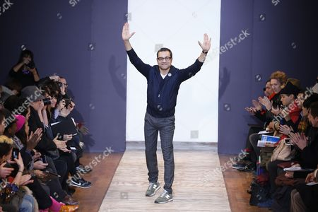 French Designer Sacha Walckhoff Takes to the Catwalk After His Fall-winter 2013/14 Men's Collection For Christian Lacroix Fashion House During the Paris Fashion Week in Paris France 16 January 2013 the Presentation of the Men's Collections in Paris Runs From 16 to 20 January France Paris